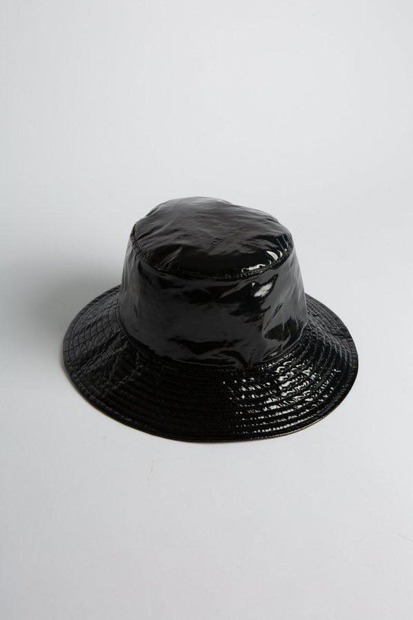 WOLF & GYPSY VINTAGE Patent Bucket Hat - Black