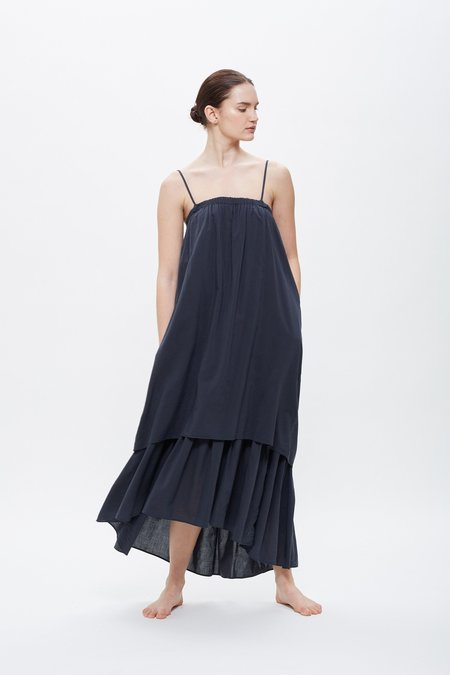 Black Crane Double Camisole Dress - Faded Black