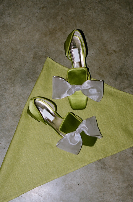 Suzanne Rae D'Orsay Bow - Satin Green