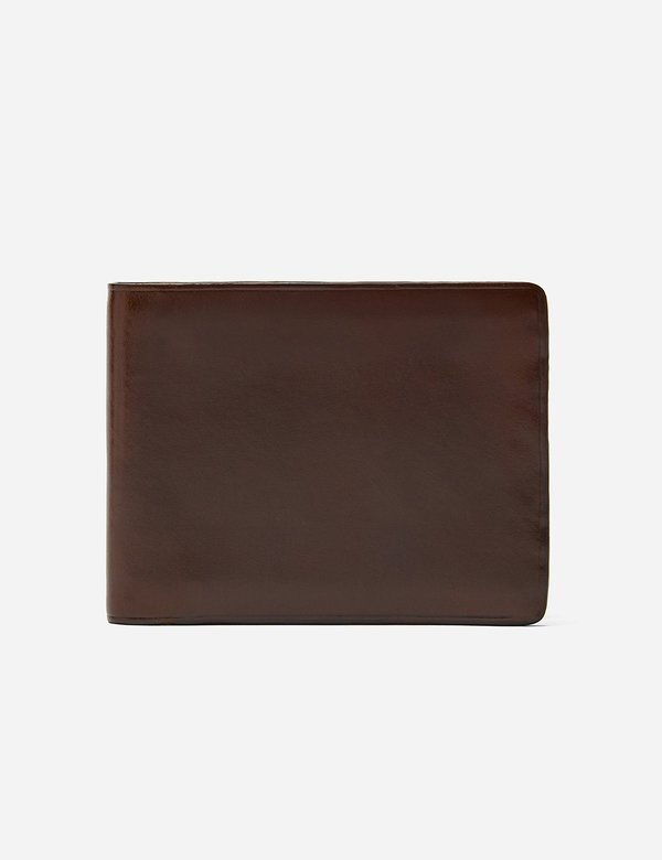 Il Bussetto Leather Bi-Fold Wallet - Dark Brown