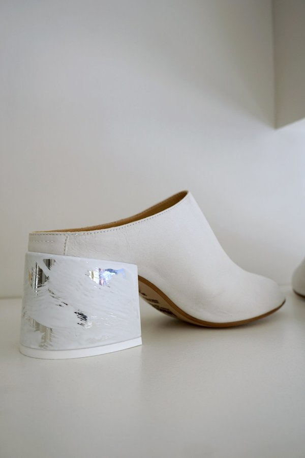 MM6 MULE - White Leather