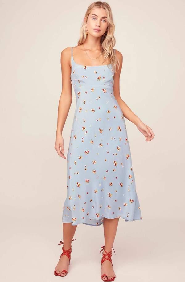 ASTR The Label Joan Dress - Floral Blue