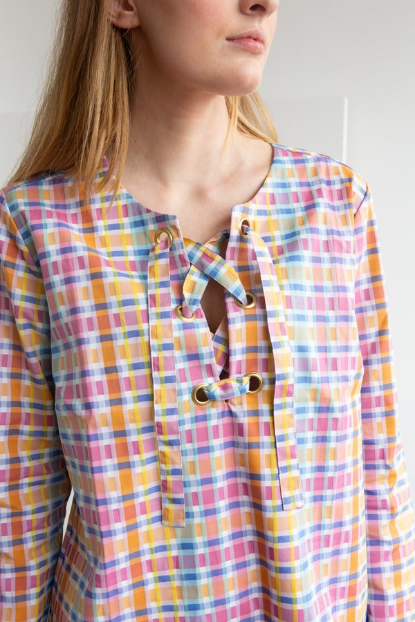 NC2 Paris Bright Check Tunic Dress