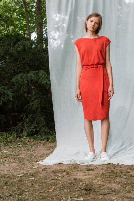 Eve Gravel Amores Dress - red