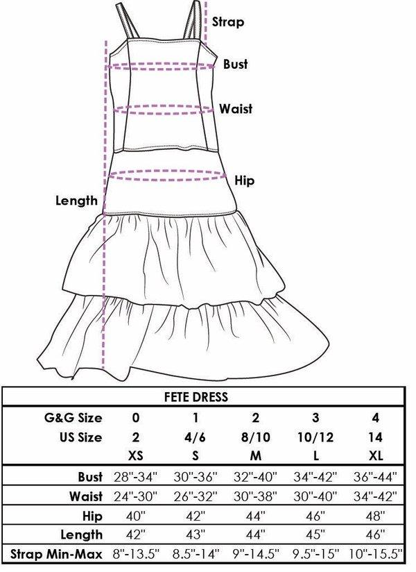 Gravel & Gold Fete Dress - Sunset