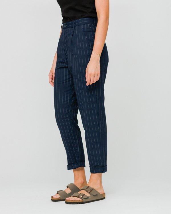 Carhartt WIP Pullman Ankle Pant (Rigid) - Pinstripe Metro Blue/White