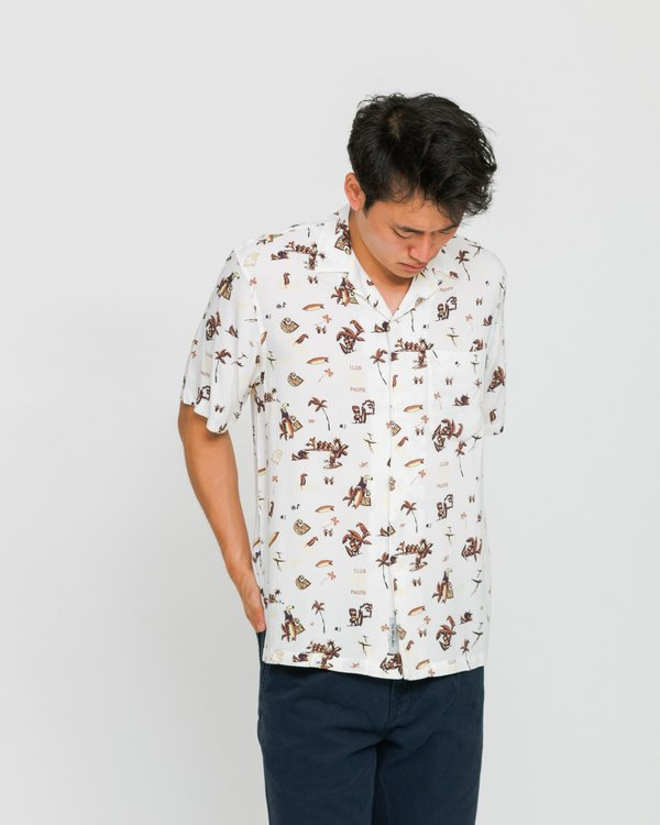 5c59cd9424d62 CARHARTT WIP SS Club Pacific Print Shirt - Wax | Garmentory