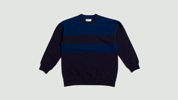 Universal Works Loopback Panel Sweatshirt - Blues