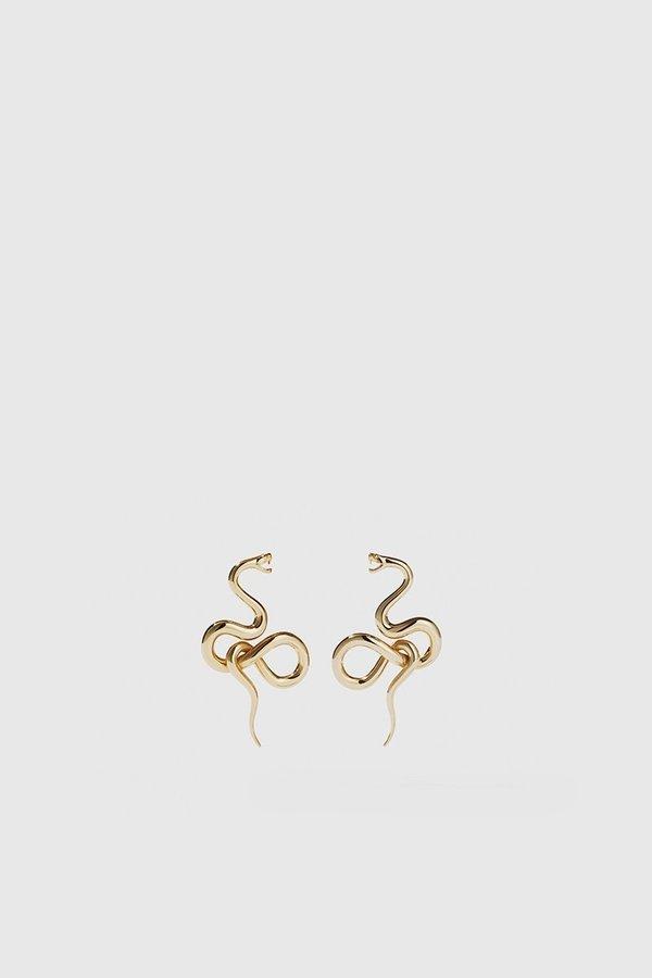 Meadowlark Medusa Earrings Medium - Gold Plated