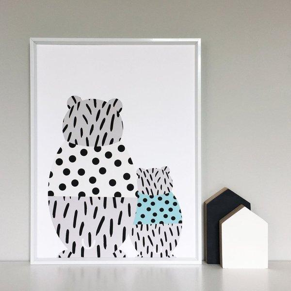 WONDER & RAH Bear and Babe Print