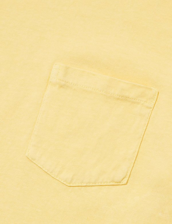 Velva Sheen Pigment Dyed T-shirt Pocket - Yellow