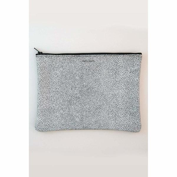 Tracey Tanner Large Flat Pouch - Black Stingray