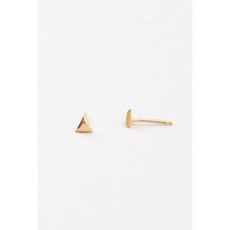 Marisa Mason Small Triangle Stud Earrings - Gold