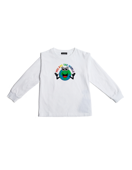KIDS Balenciaga Kids Printed L/S T-Shirt - White