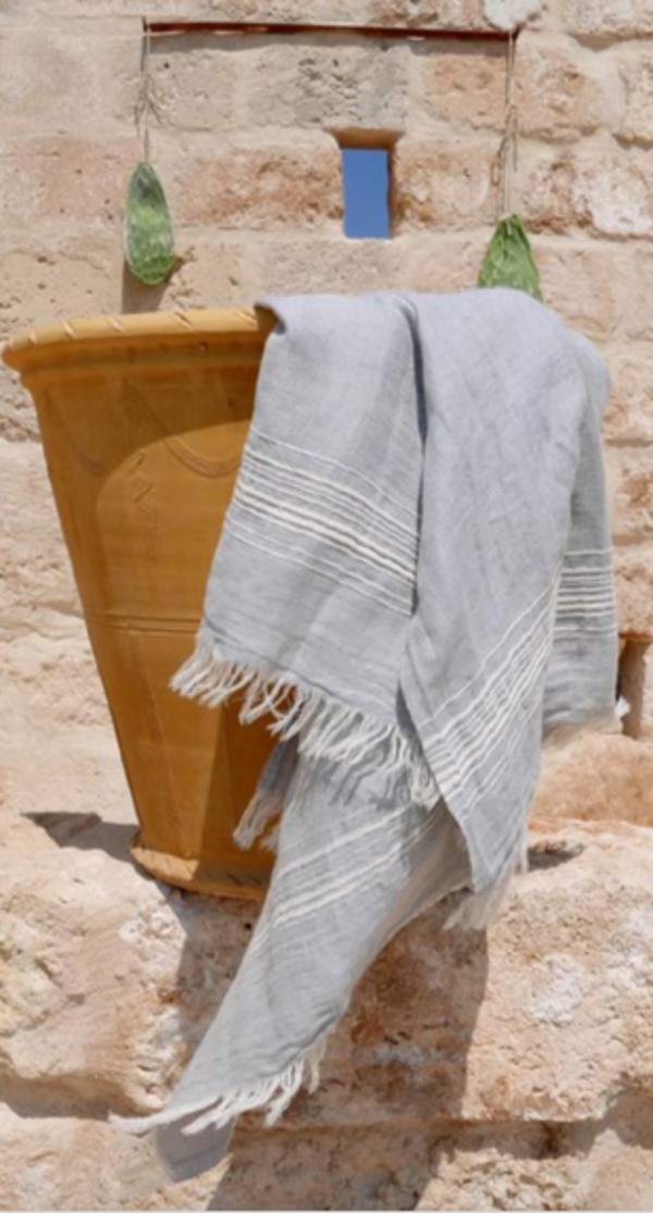 Thalassa Home Hera Towel/Wrap - Pale Grey