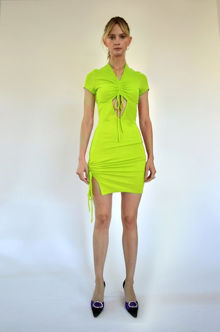 Oori Ott Peekaboo Petra Dress - Tennis Ball