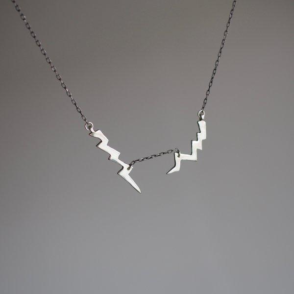 Allison Bartline Volt Necklace - Sterling silver