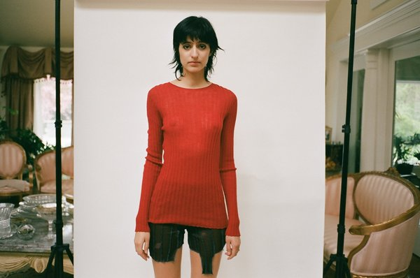 Standard Issue Merino Tulle Top - Red