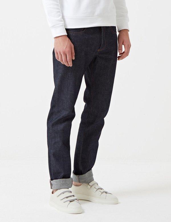 A.P.C. Petit Standard Slim Straight Jeans - Indigo Blue Denim
