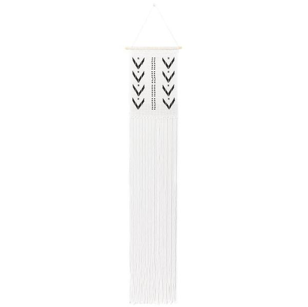 Sidai Designs Long Dotted V Wall Hanging - Black/White