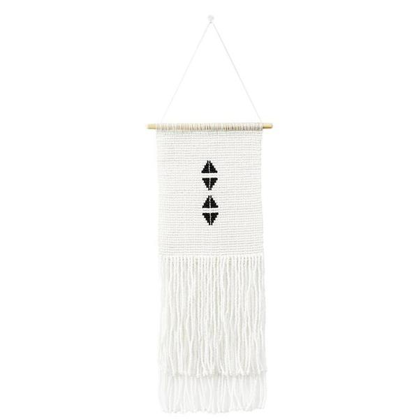 Sidai Designs Small Four Triangle Wall Hanging - Black/White