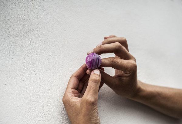 F O L D Swirl Agate Ring - Purple
