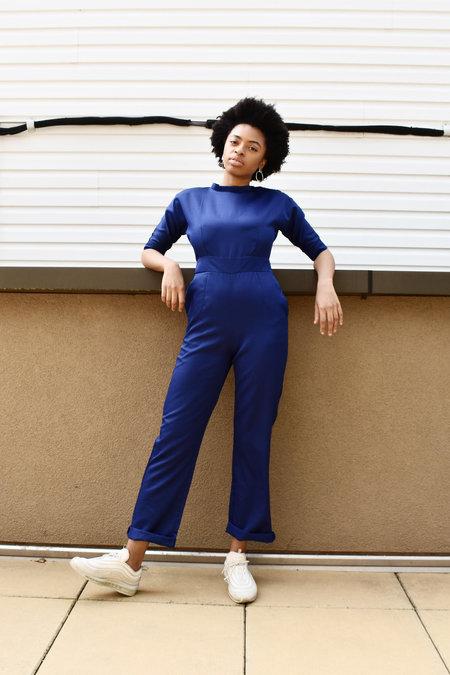 Vintage Blue Jumsuit - blue