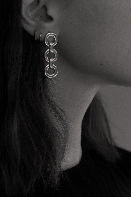 Alta Ora Small Circle Drop Earrings - Gold