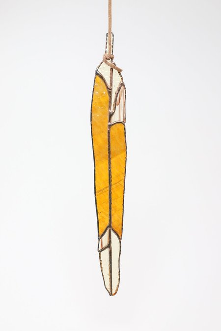 Colin Adrian Long Feather - Orange/Light Yellow