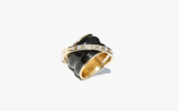 Kindred Black Poirot Black Onyx and Diamond Ring