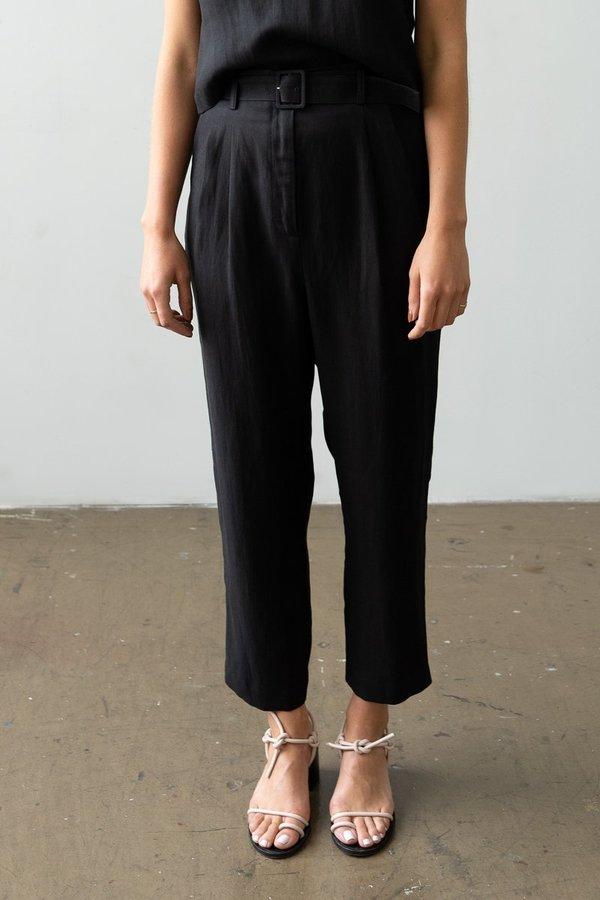 Waltz Belted Trouser - Black