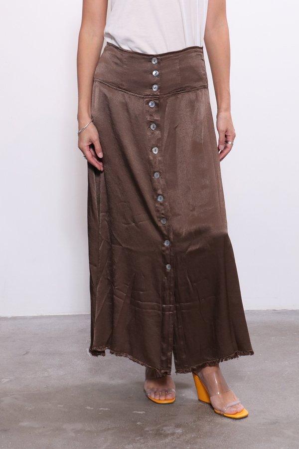 Raquel Allegra Button Front Skirt - Moss