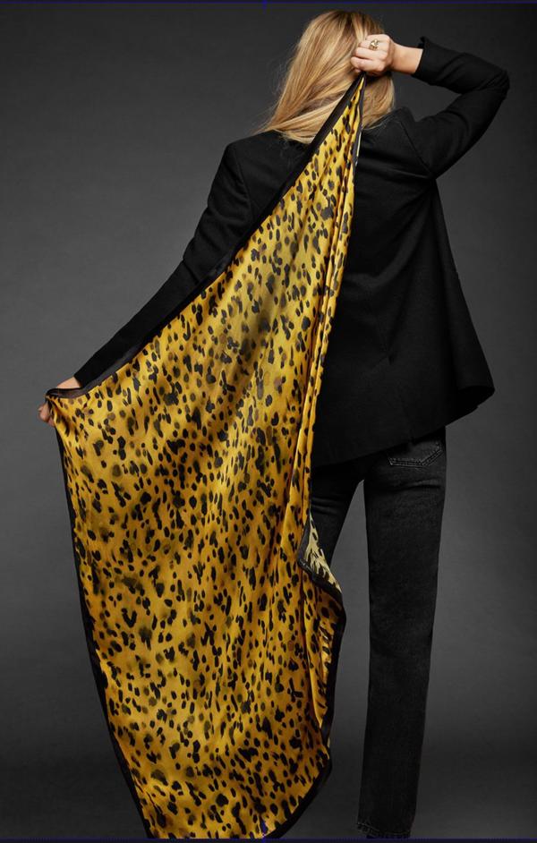 Anine Bing Jayce Scarf - Leopard on Garmentory