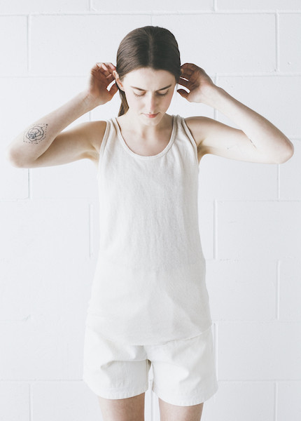 Black Crane - Tank Top in Cream