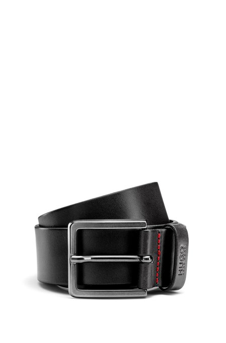 Hugo Boss Gionio Leather Jeans Belt - Black
