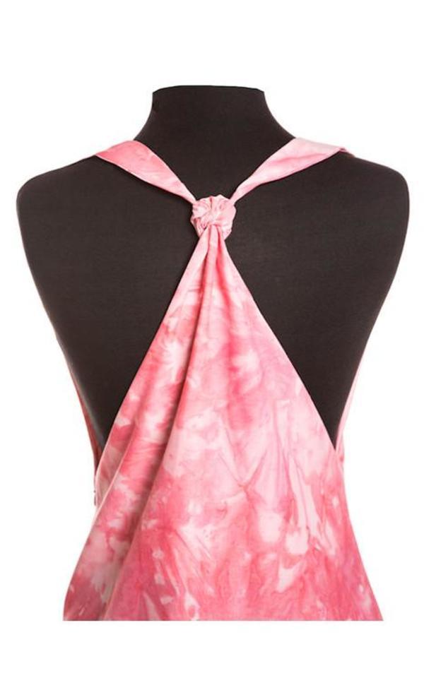 Studio One Eighty Nine Cotton Hand-Batik T-Strap Dress - Pink/Splash Print