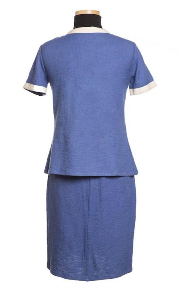 Studio One Eighty Nine Tweed Hand Batik Jacket - Royal Blue
