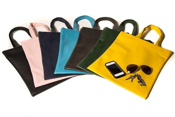 Fashion Rising Collection Vegan Leather Shopper - Royal Blue