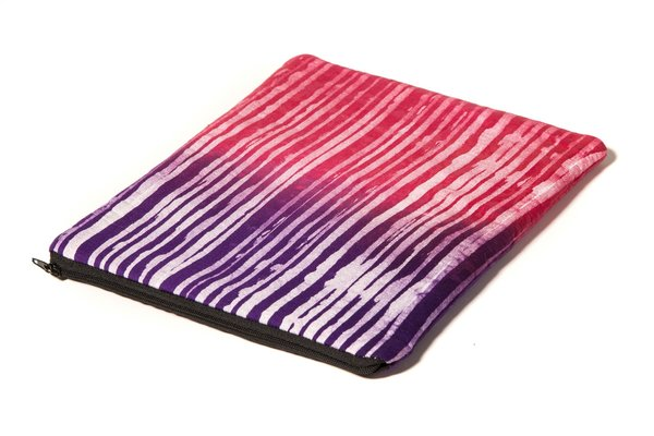 Fashion Rising Collection Cotton Medium Carry All - Violet/Pink Stripe