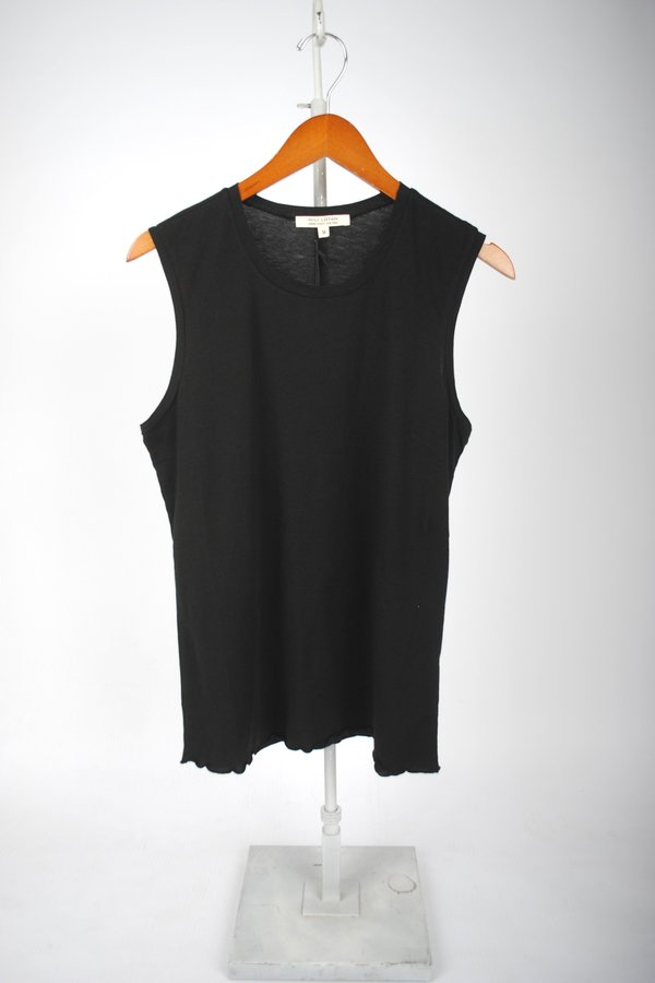Nili Lotan Muscle Tee - Washed Black