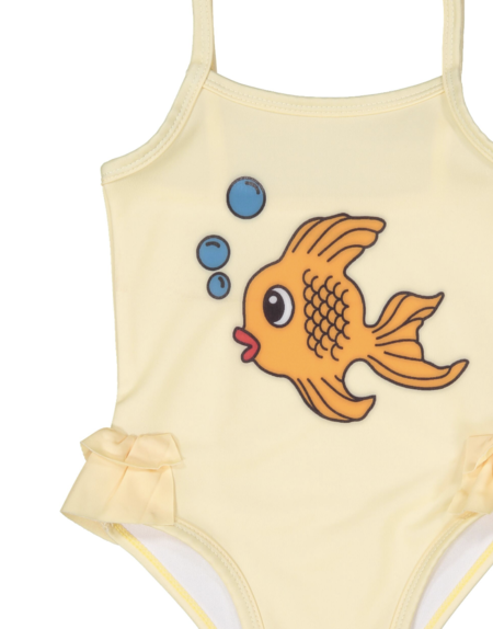 Kids Hugo Loves Tiki Fish Ruffle Swimsuit