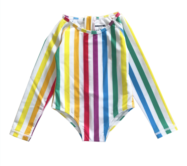 28c4fb9227003 Kids Hugo Loves Tiki Surf Onesie - Rainbow Stripe | Garmentory