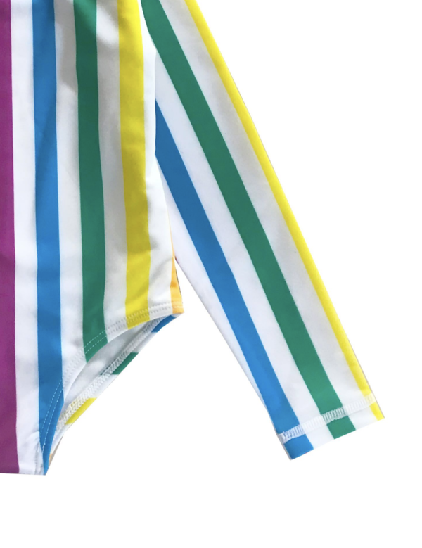 Kids Hugo Loves Tiki Surf Onesie - Rainbow Stripe