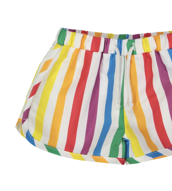 Hugo Loves Tiki Swim Trunks - Rainbow Stripe