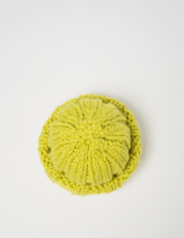 Clyde Arp Knit Hat in Acid Yellow Reflector
