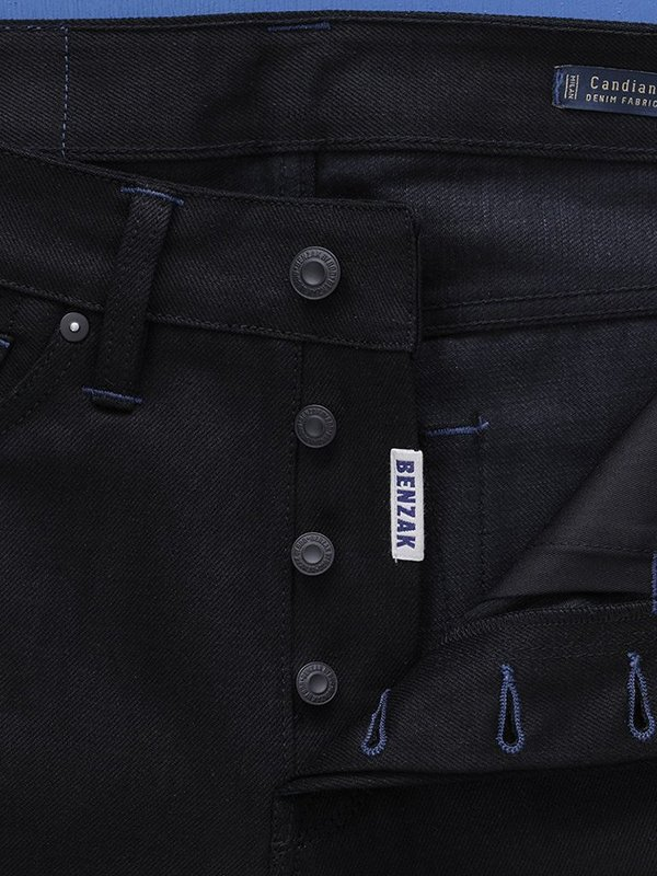 Benzak B-01 Slim Selvedge Jeans - Black