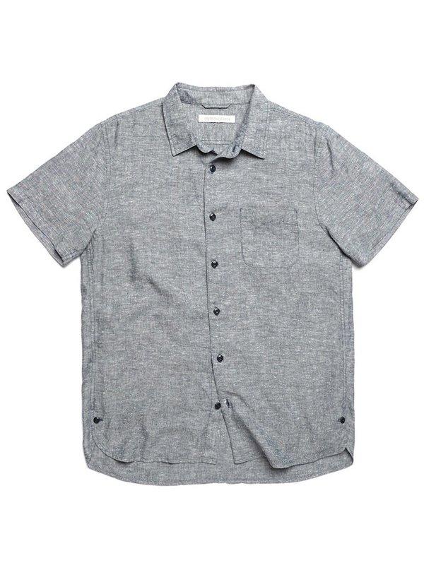 Outerknown Beachcomber S/S Shirt - Marine