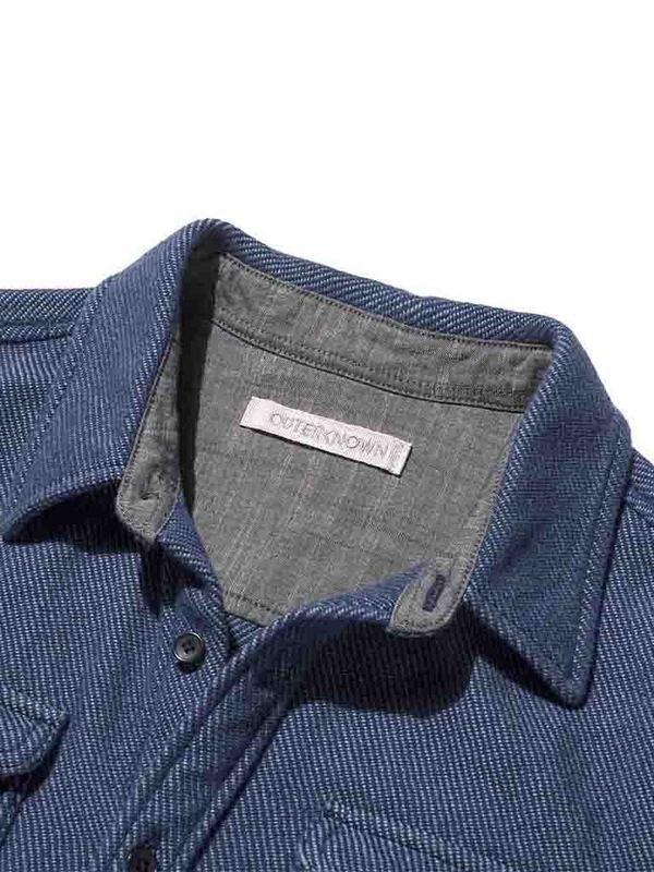 Outerknown Blanket Shirt - Dusty Blue