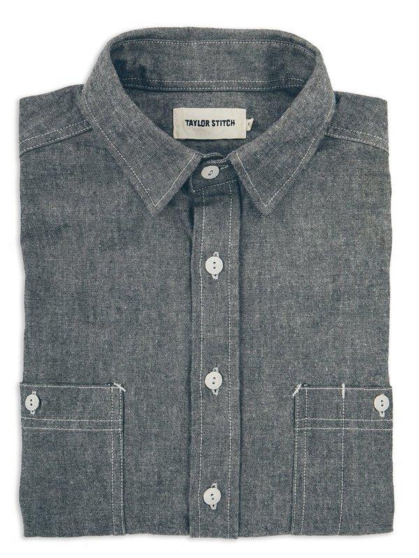 Taylor Stitch California Chambray Shirt - Charcoal