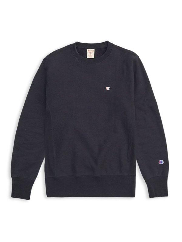 Champion Premium Reverse Weave Crewneck Sweatshirt - Black